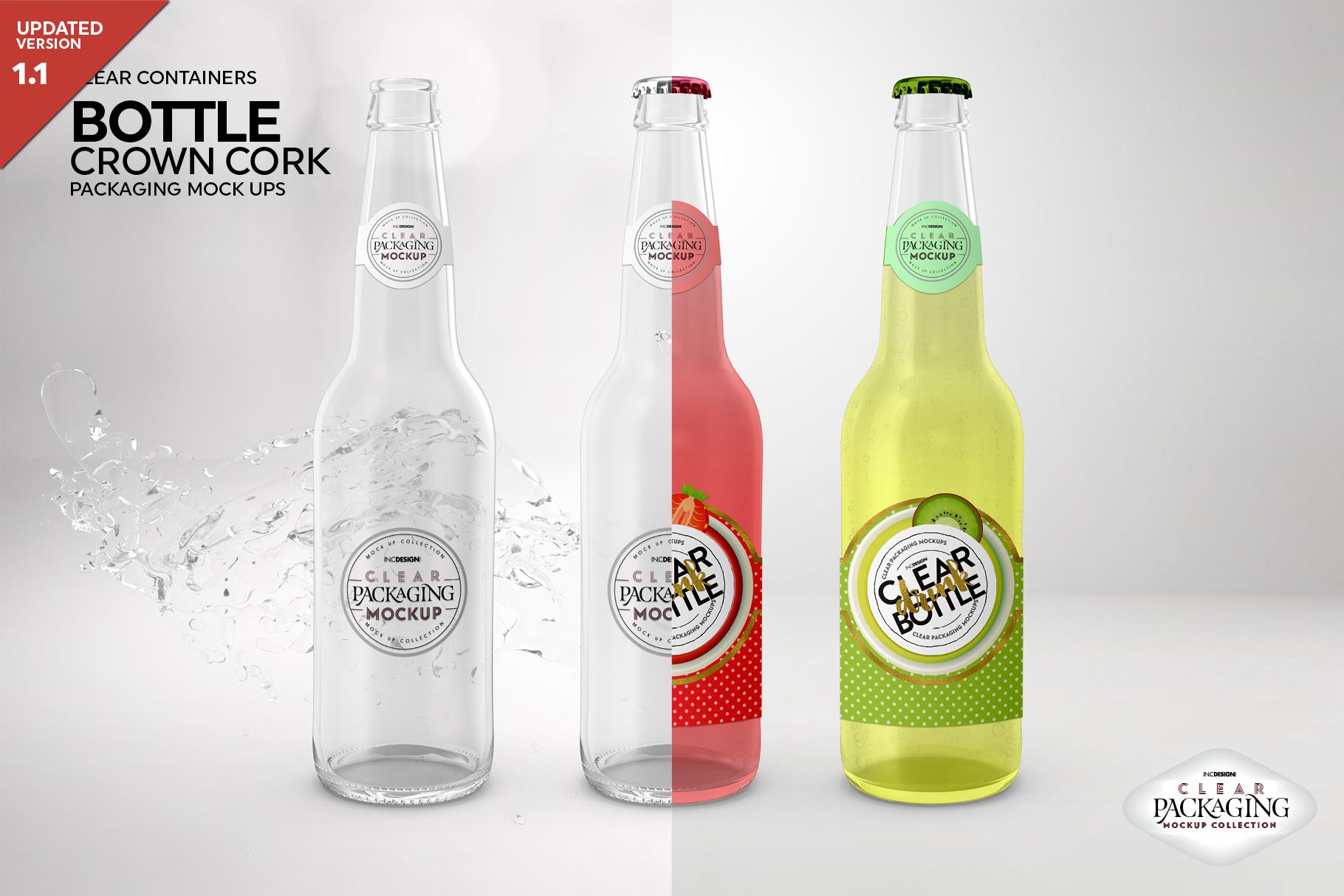 Crown Cork Bottle Mock Up example image 1