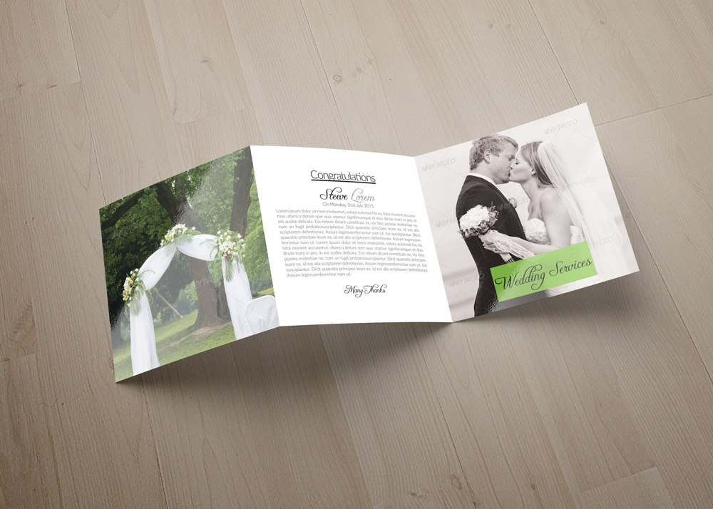 Wedding Planner Square Trifold Brochure example image 2