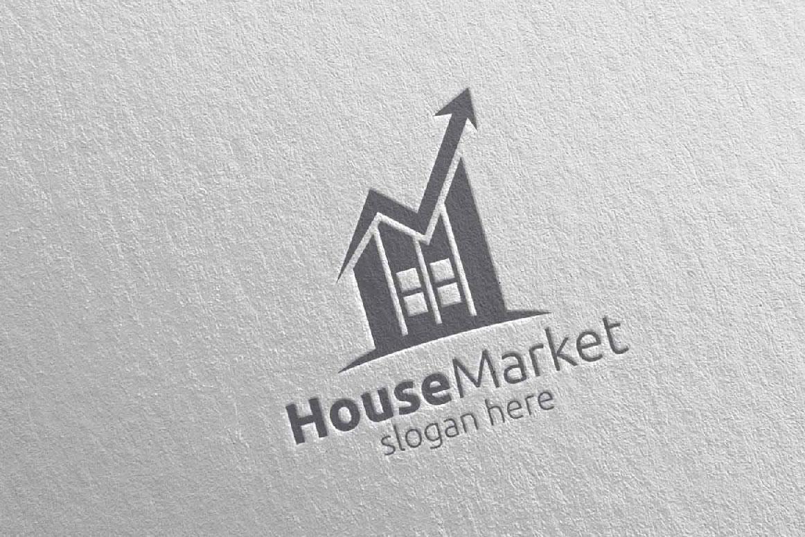 Real Estate Marketing Financial Advisor Logo Design 22 example image 5