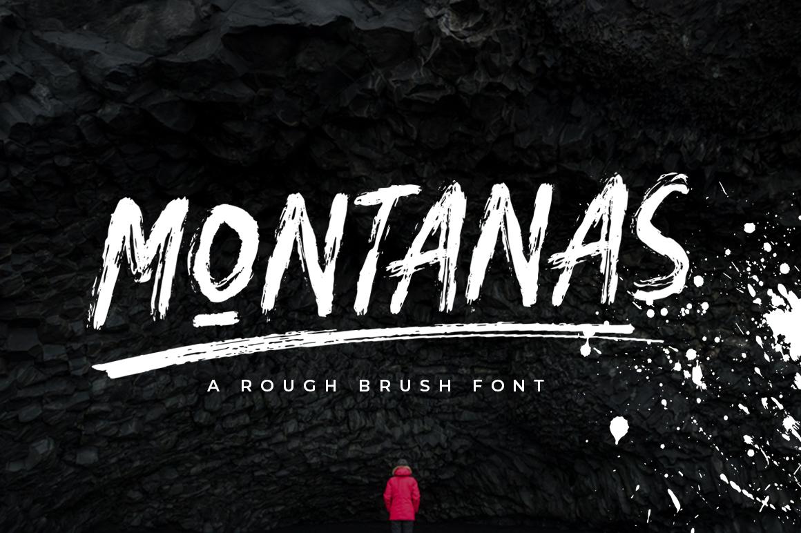 Montanas Brush Font example image 1