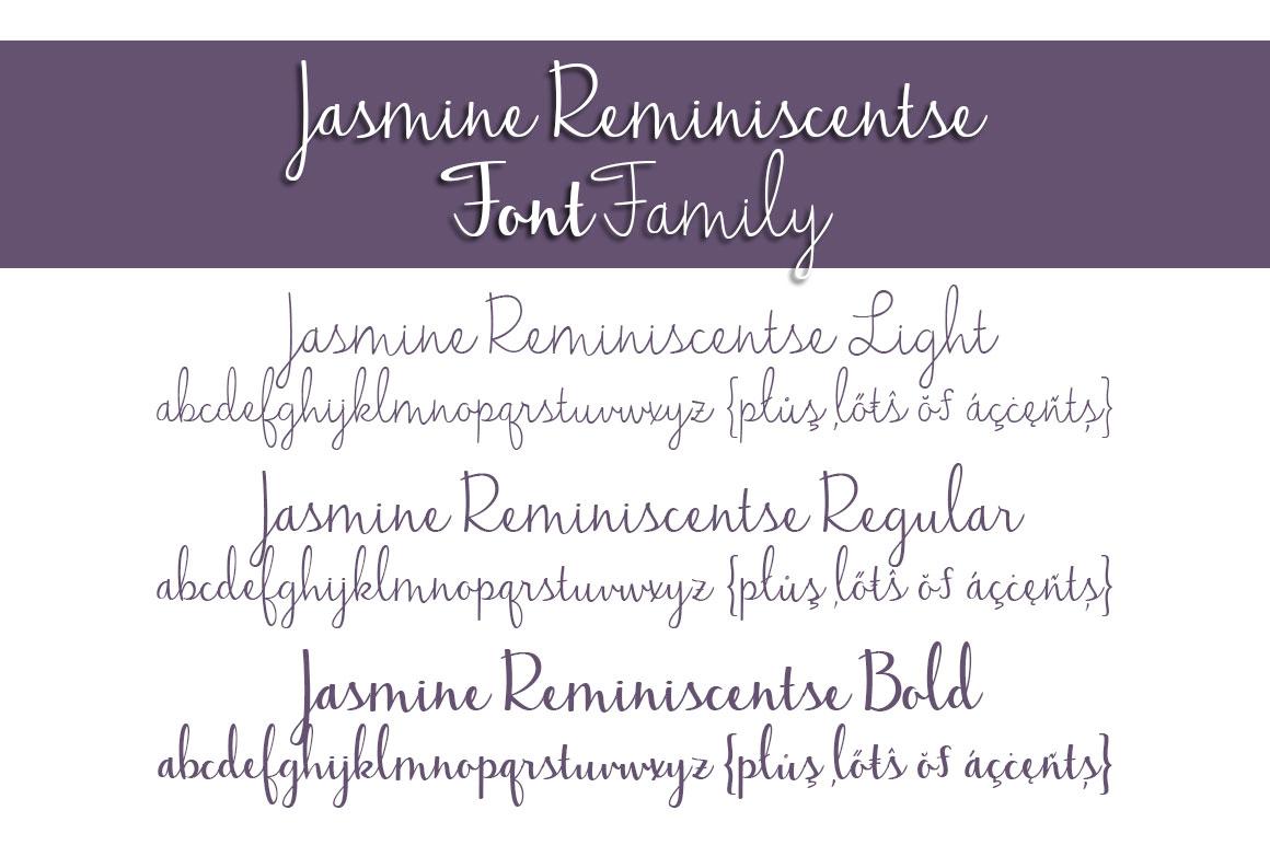 Jasmine Reminiscentse Font Family example image 2