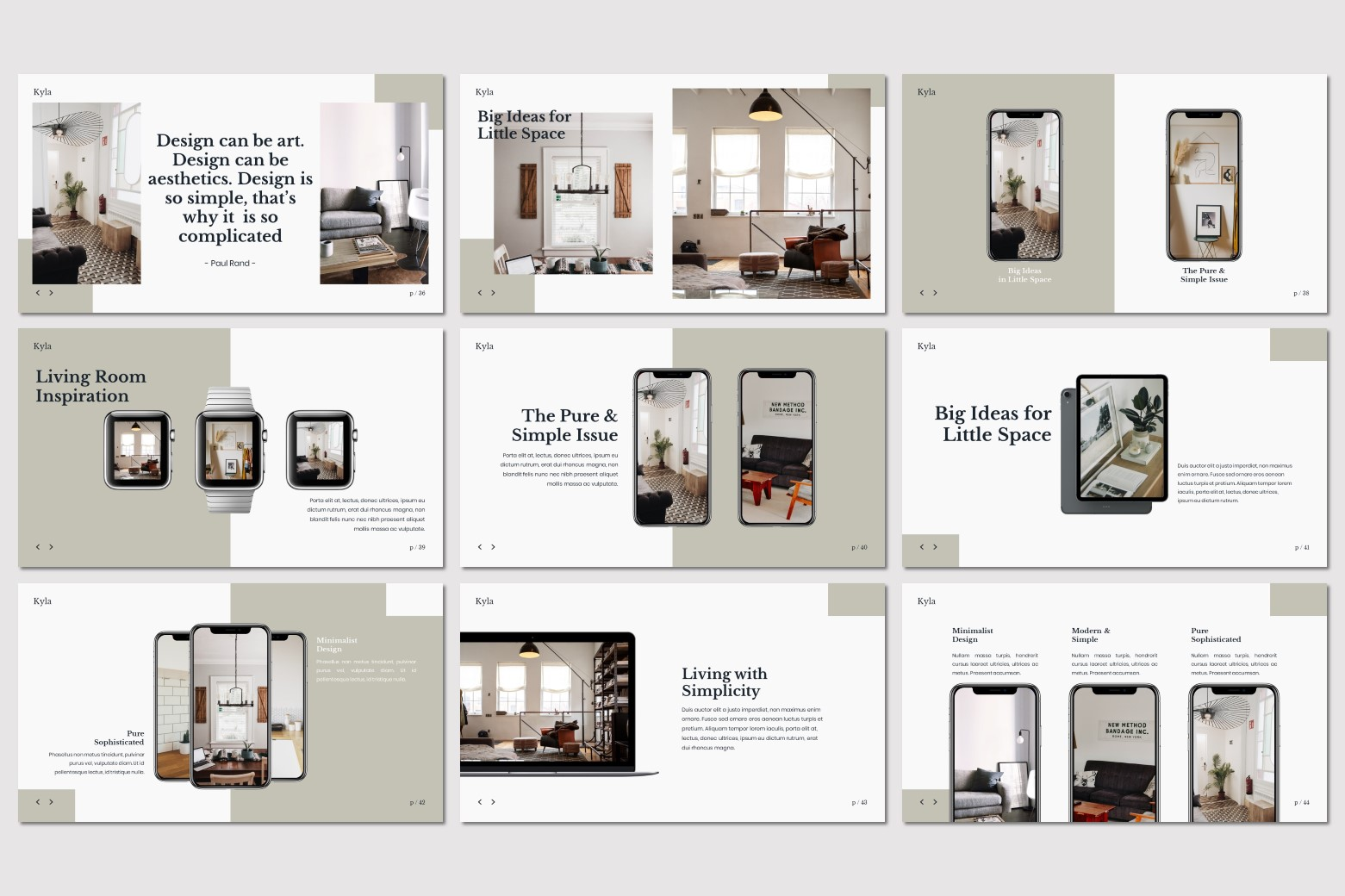 Kyla - Powerpoint Template example image 9