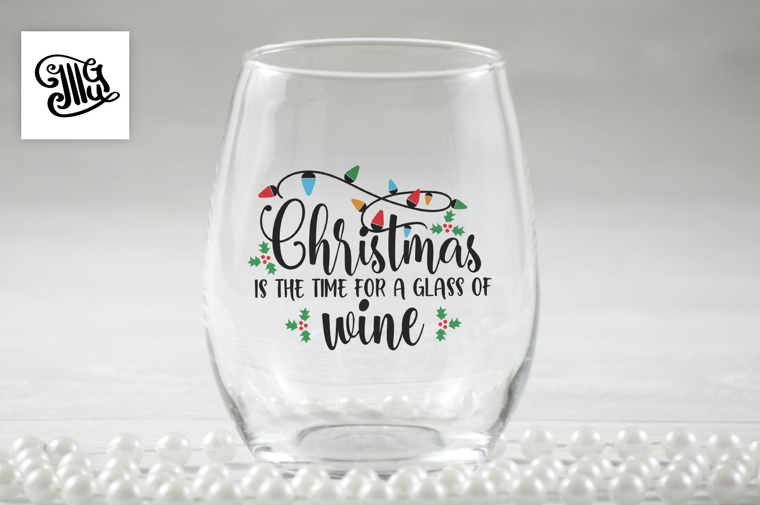 Christmas wine svg bundle example image 4