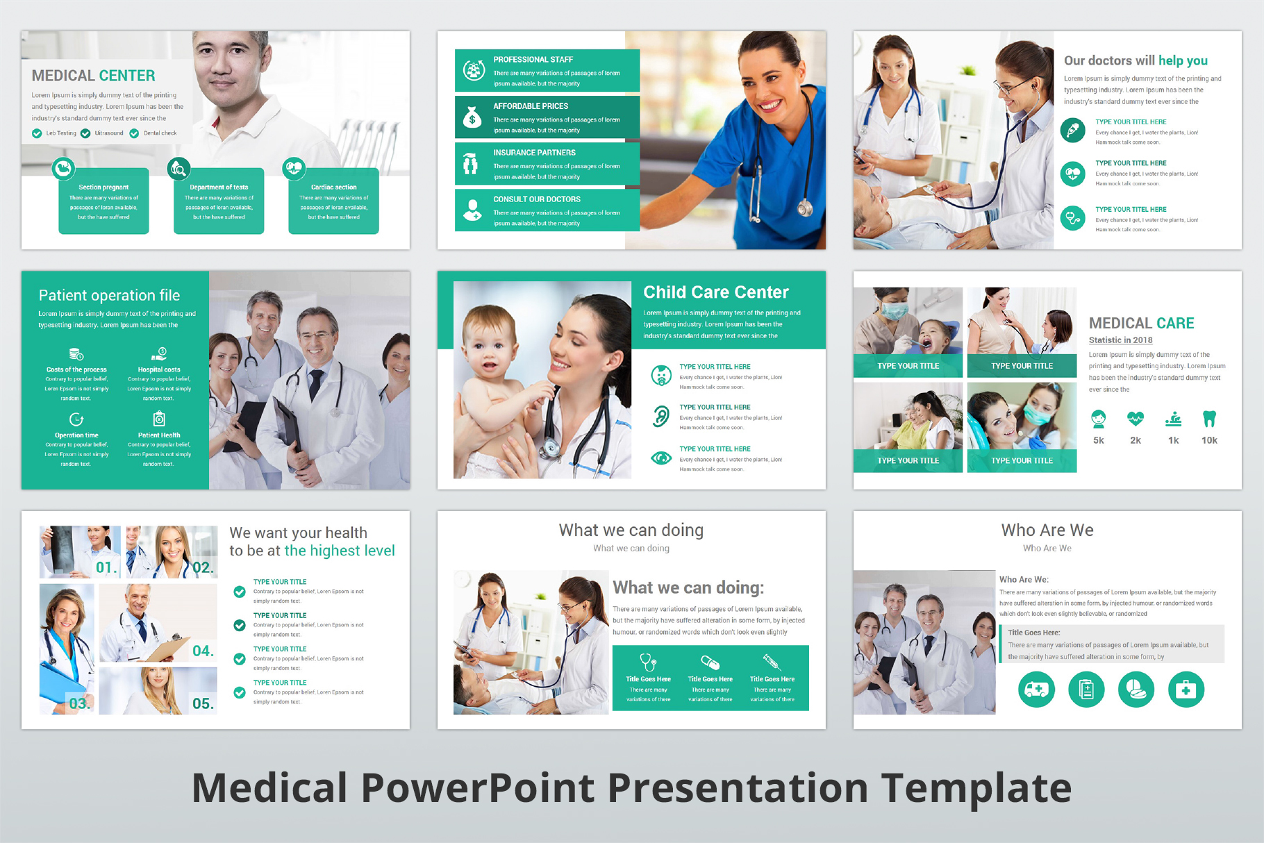 Medical and Healthcare Presentation PowerPoint Template example image 9