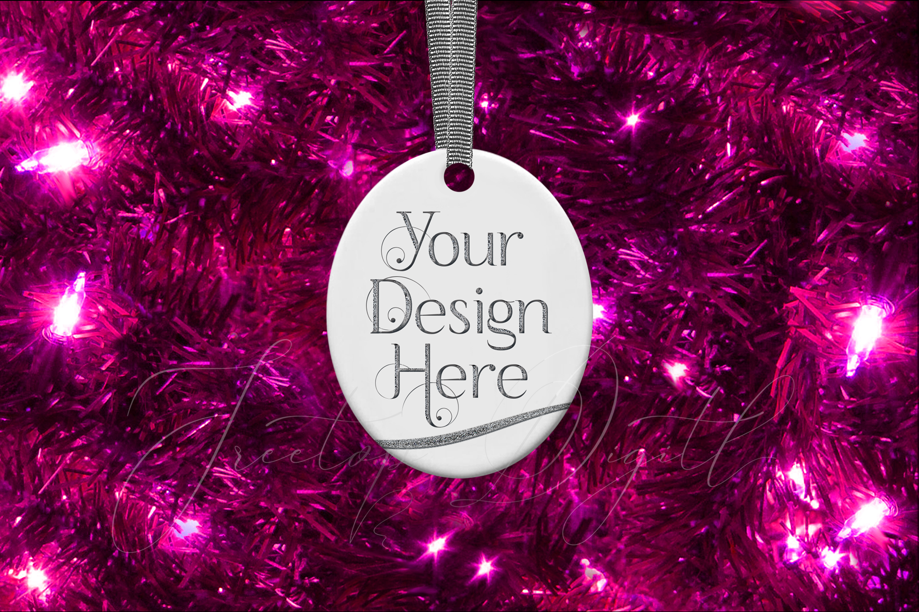 Oval Christmas Ornament Mockup, Sublimation Mock-Up, PSD example image 6