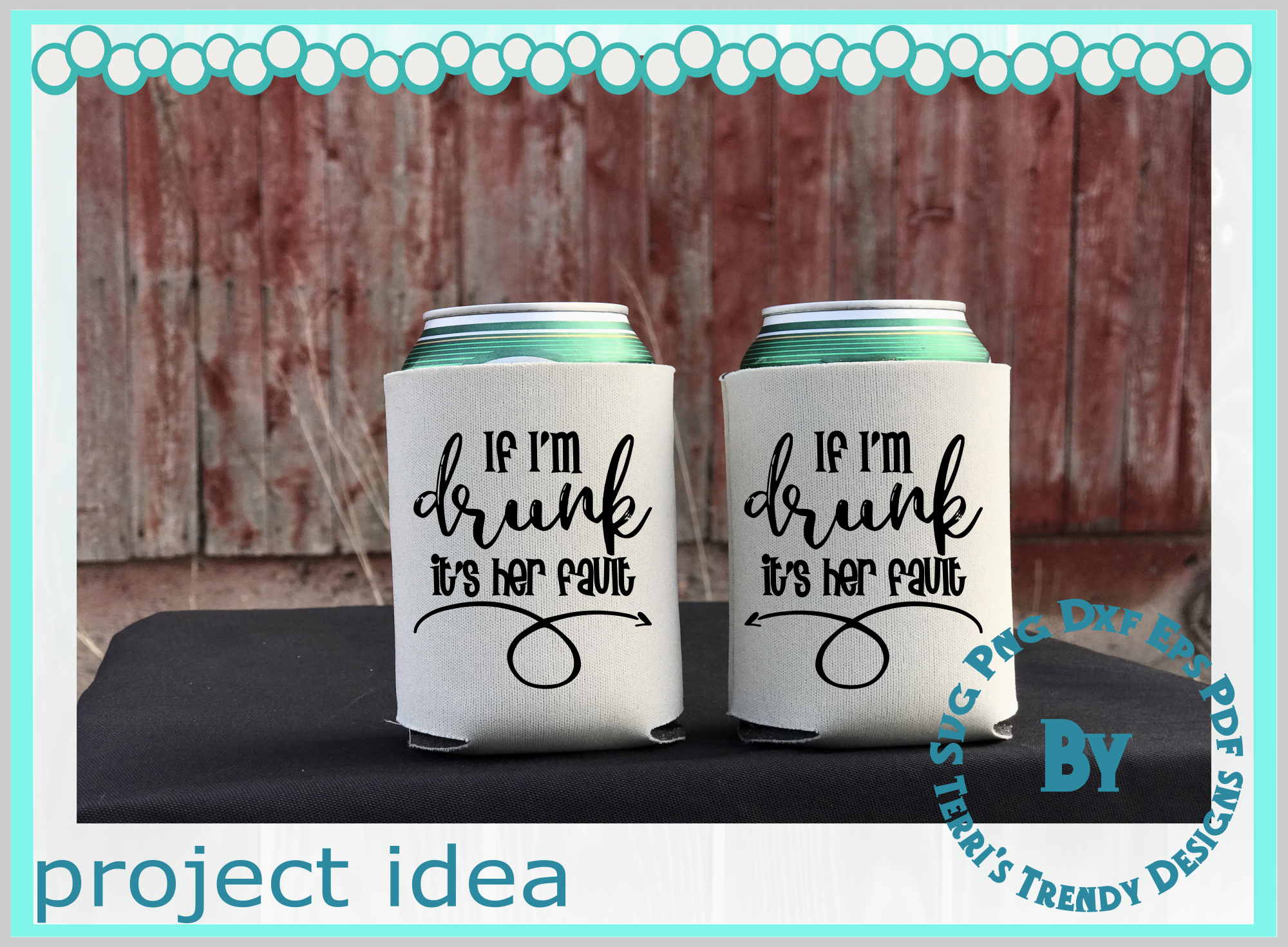 Funny bundle svg If I'm drunk His Her fault Bride Groom crew example image 5
