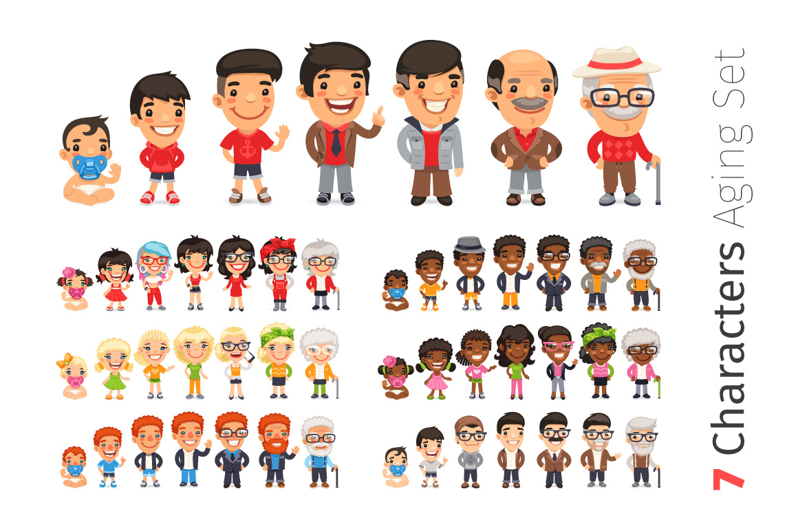 Seven Characters Aging Set example image 1