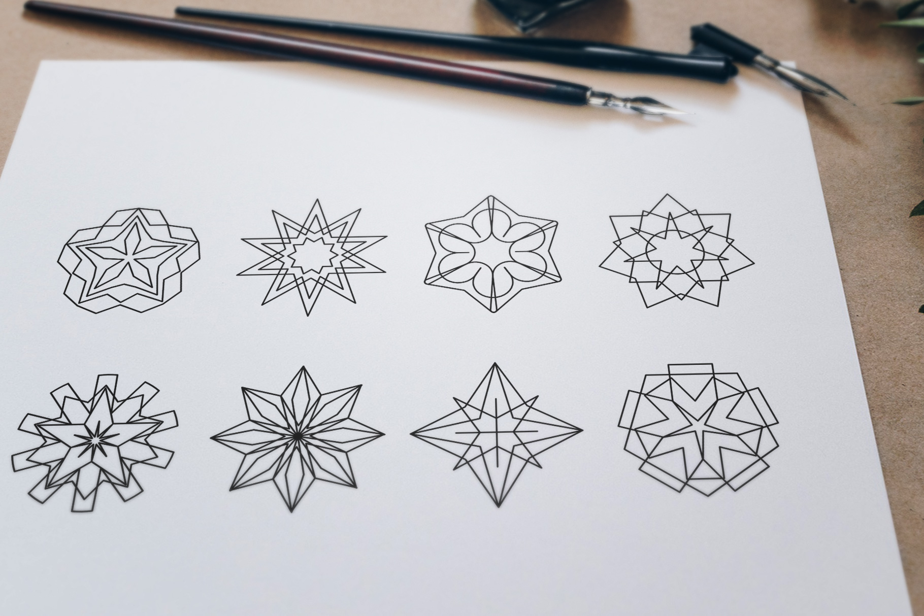 Sacred Geometry Vector Shapes Set example image 13