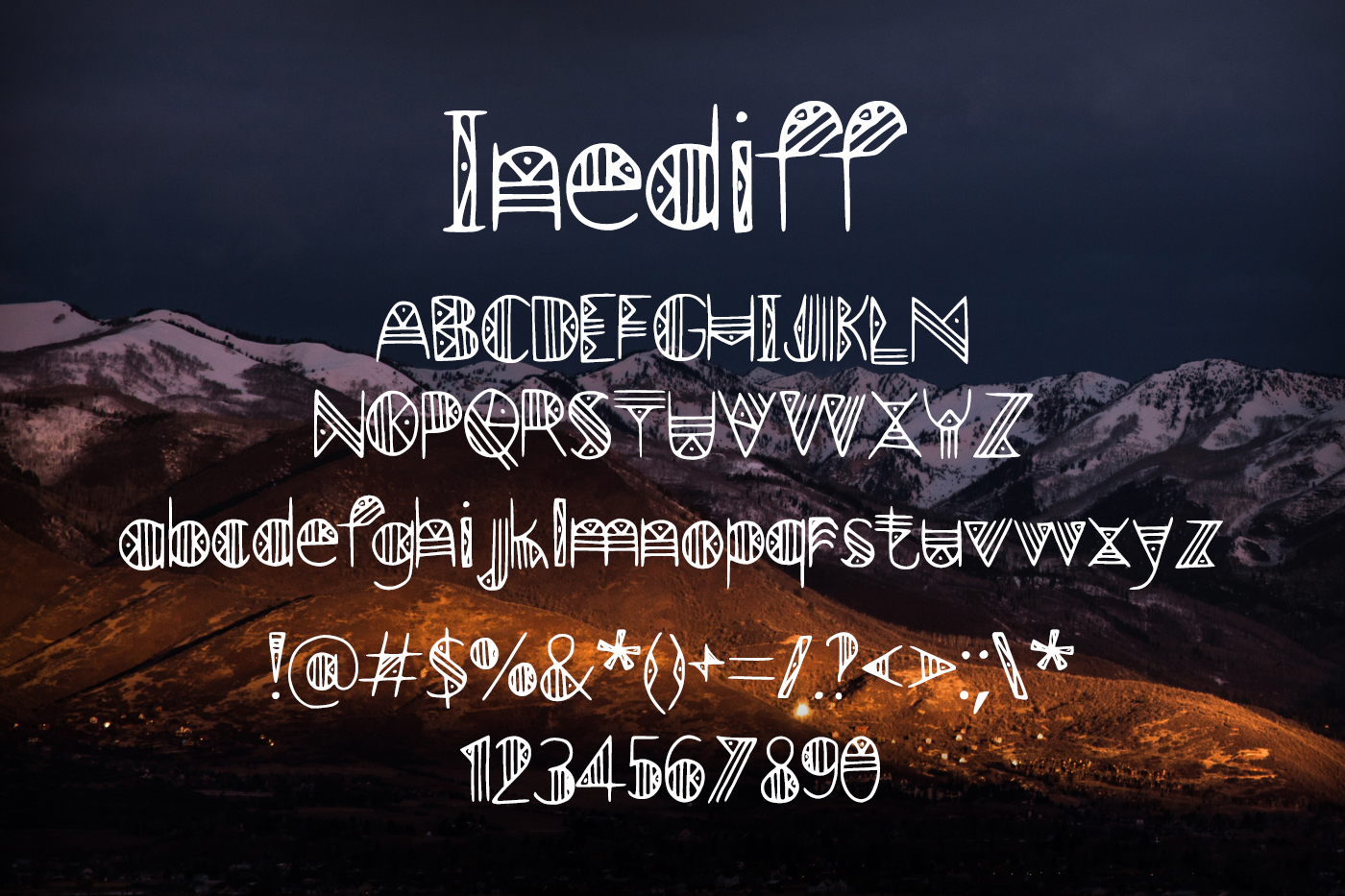 Inediff Font example image 2
