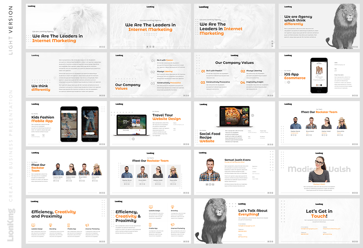 LionKing - Business Keynote Template example image 3