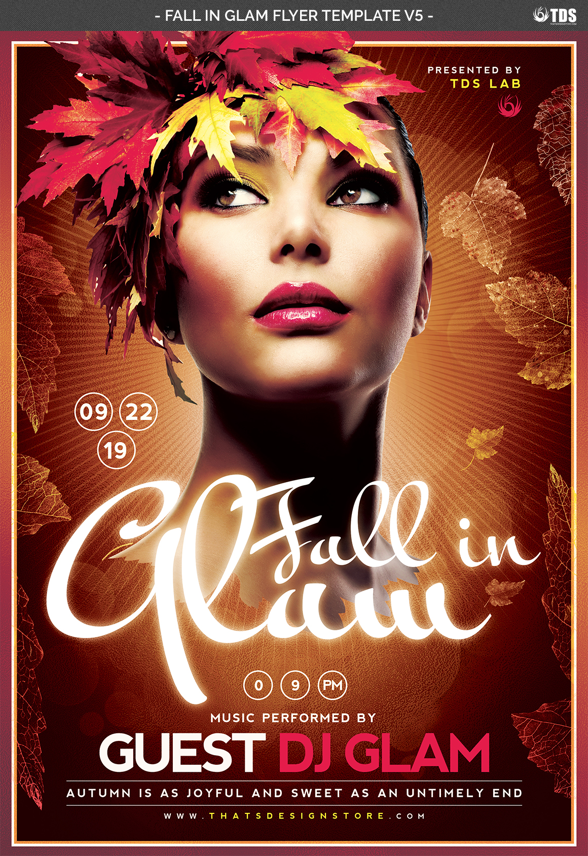Fall in Glam Flyer Template V5 example image 7