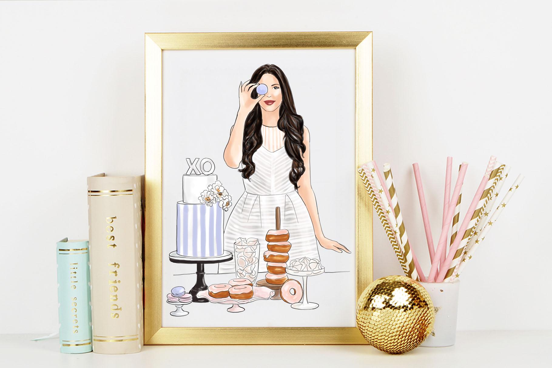 Fashion illustration - Baker Girl - Light Skin example image 6