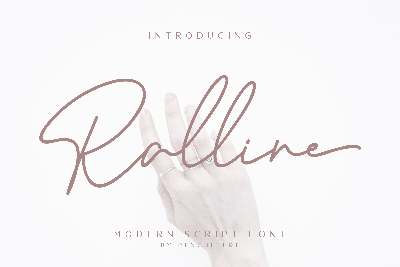 Ralline - Modern Script Font example image 1