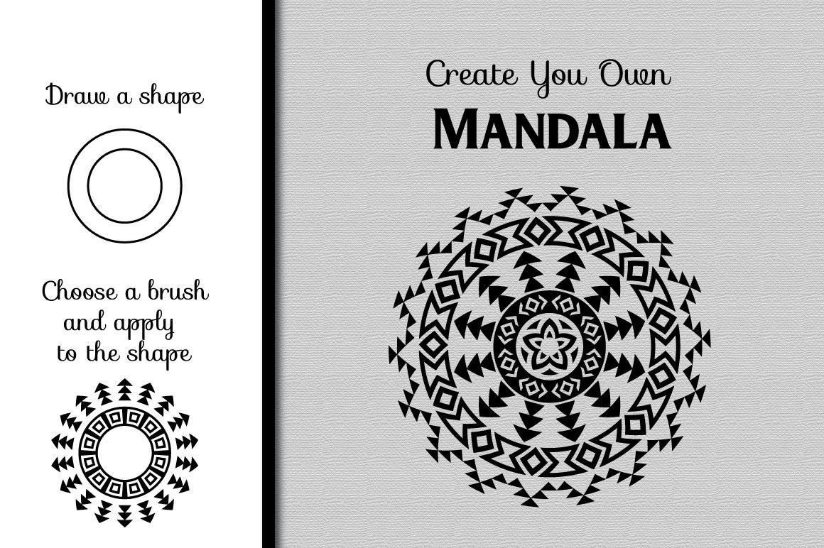 80 Tribal Pattern Brushes for Adobe Illustrator example image 4