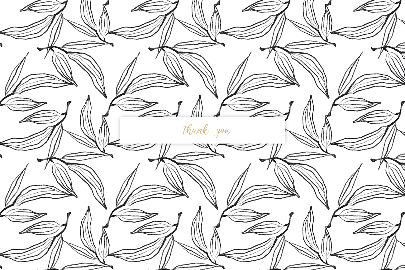 Flower and leaves sketch patterns, Seamless backgrounds example image 7