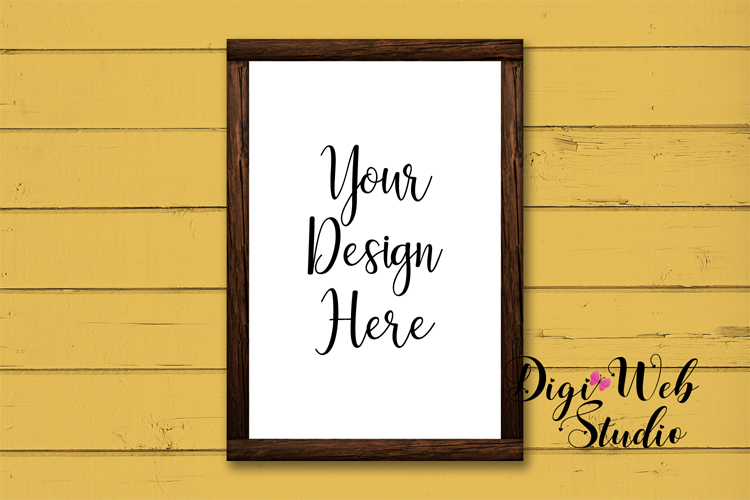 Mockup Bundle - Fall Country Wood Signs, Pillow & Coffee Cup example image 10