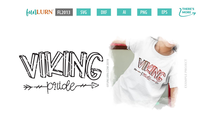 Viking Pride Team SVG Cut File example image 1