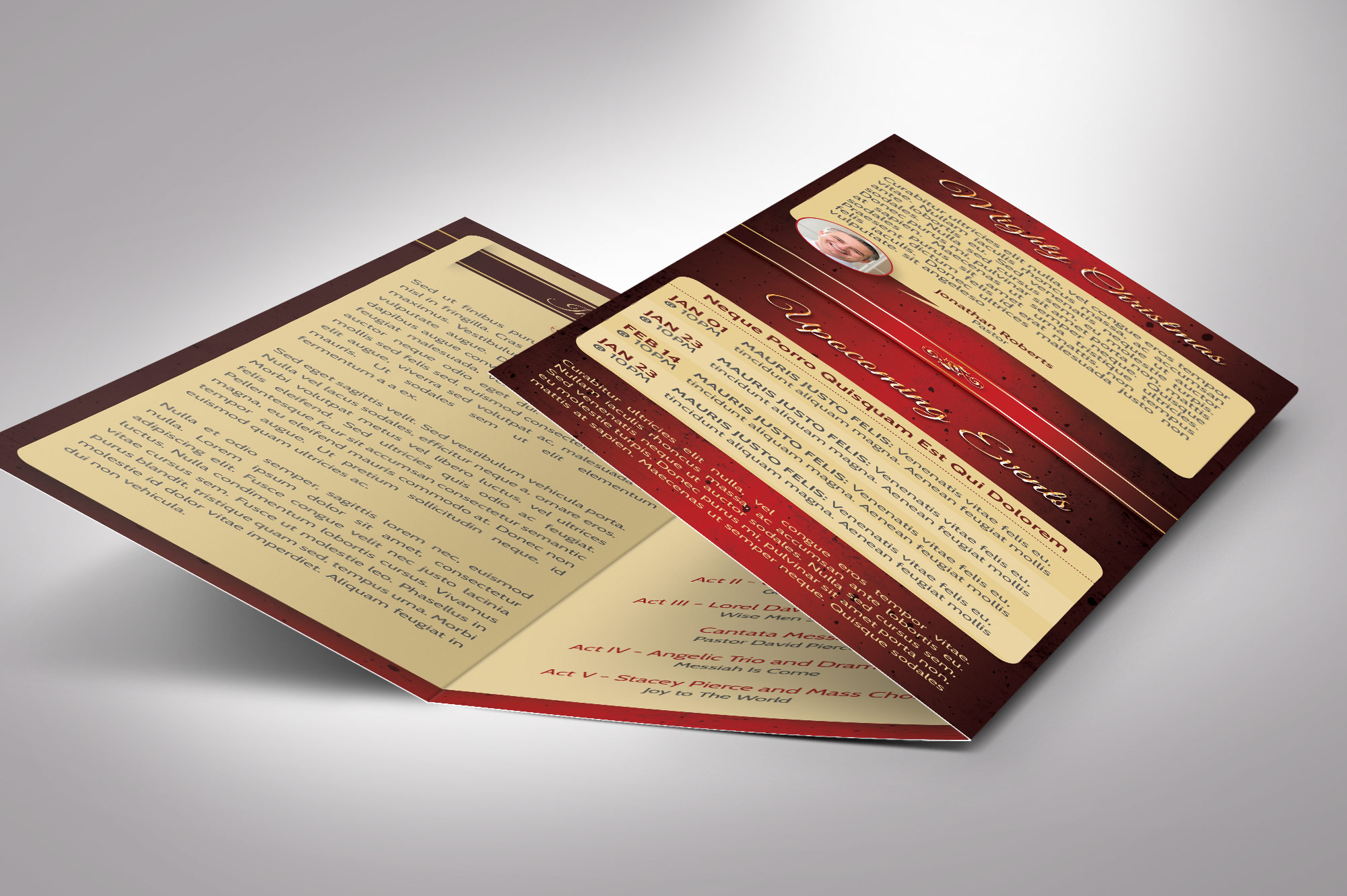 Candle Light Tri-fold Brochure example image 3