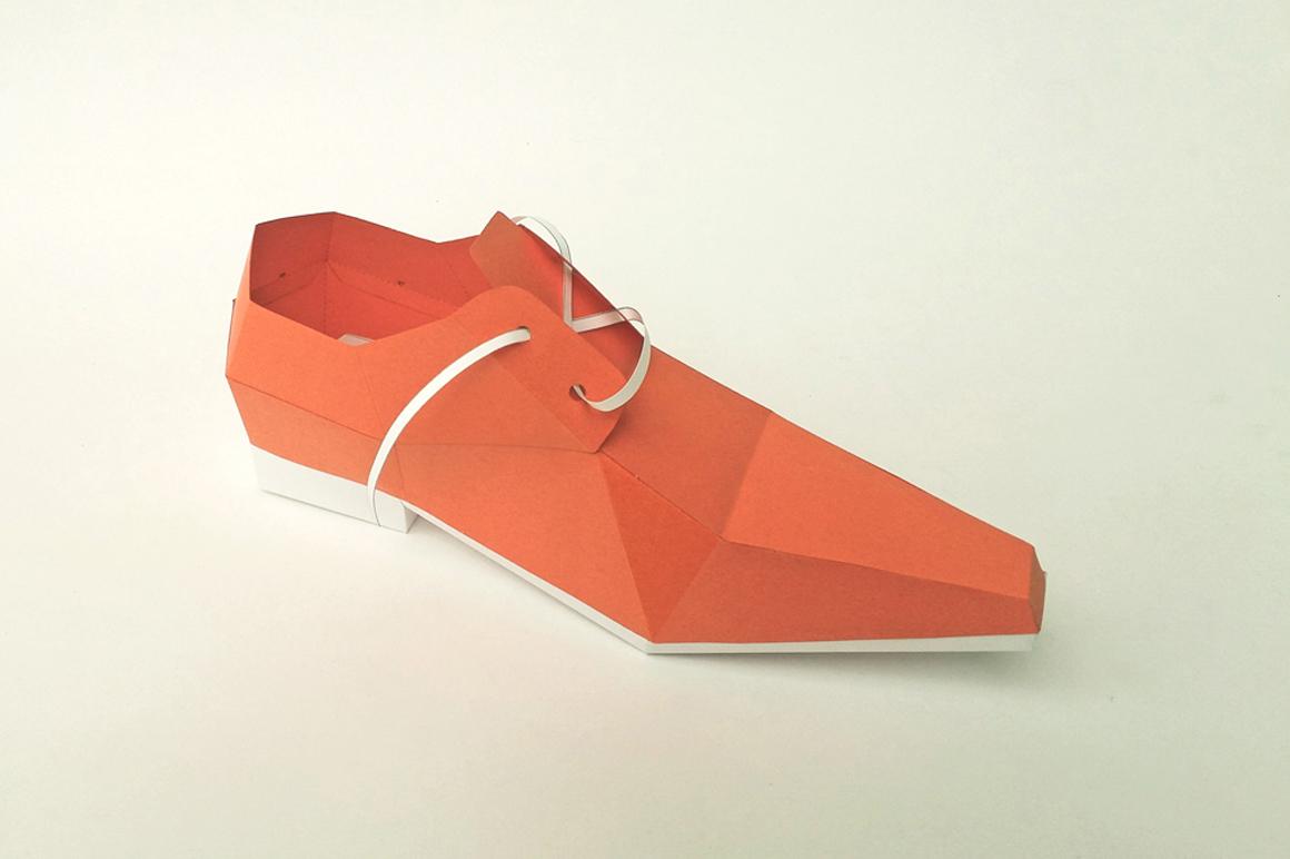 DIY Square toe shoe - 3d papercraft example image 2