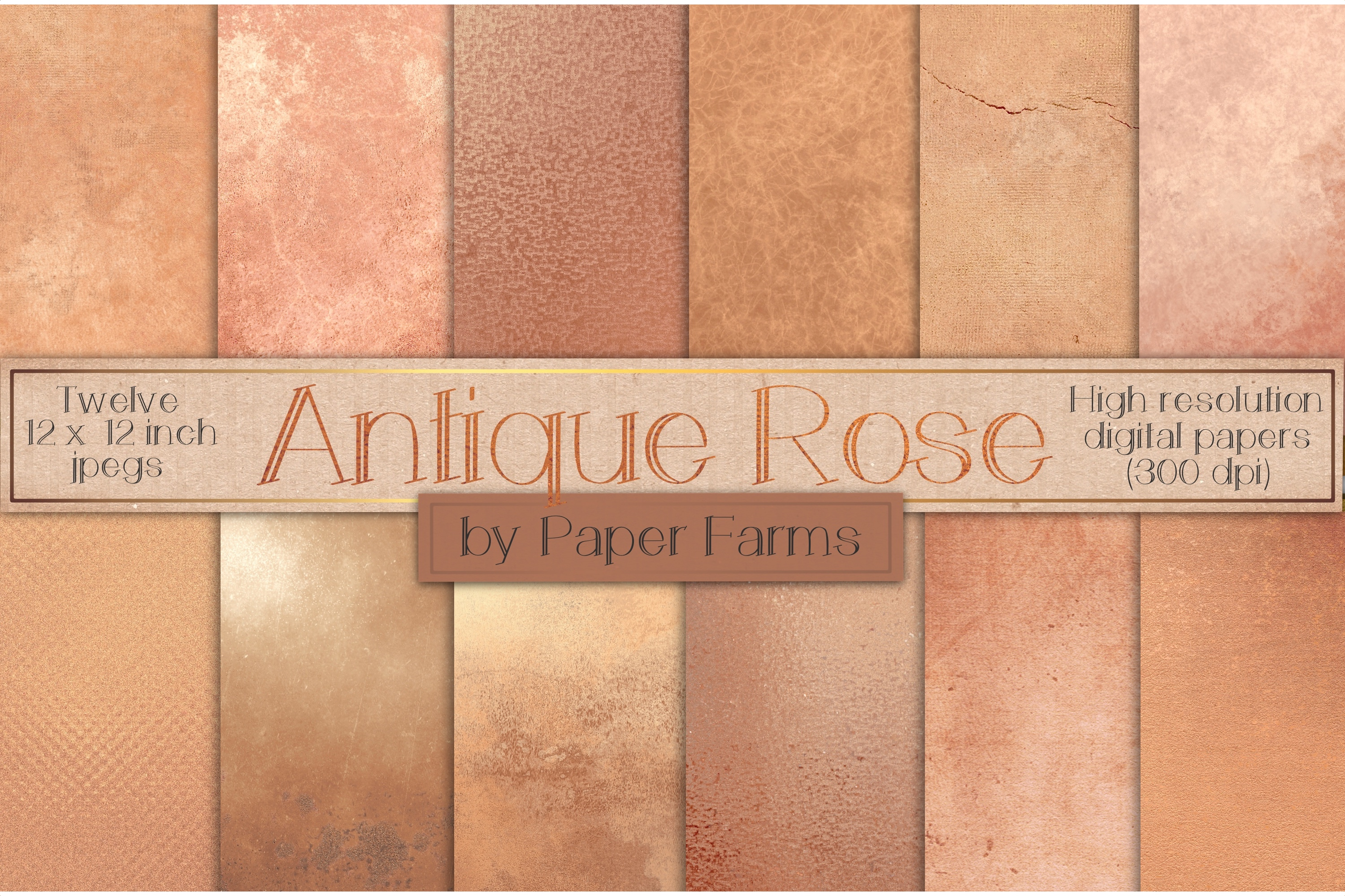 Aged rose gold textures example image 1