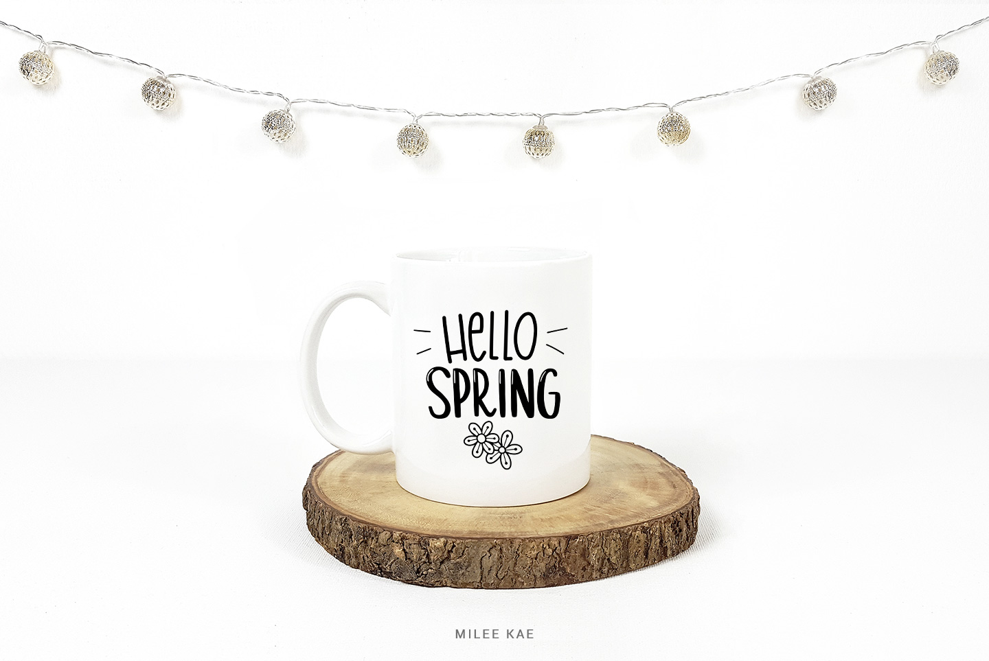 Hello Spring SVG, Cutting file, Decal example image 2