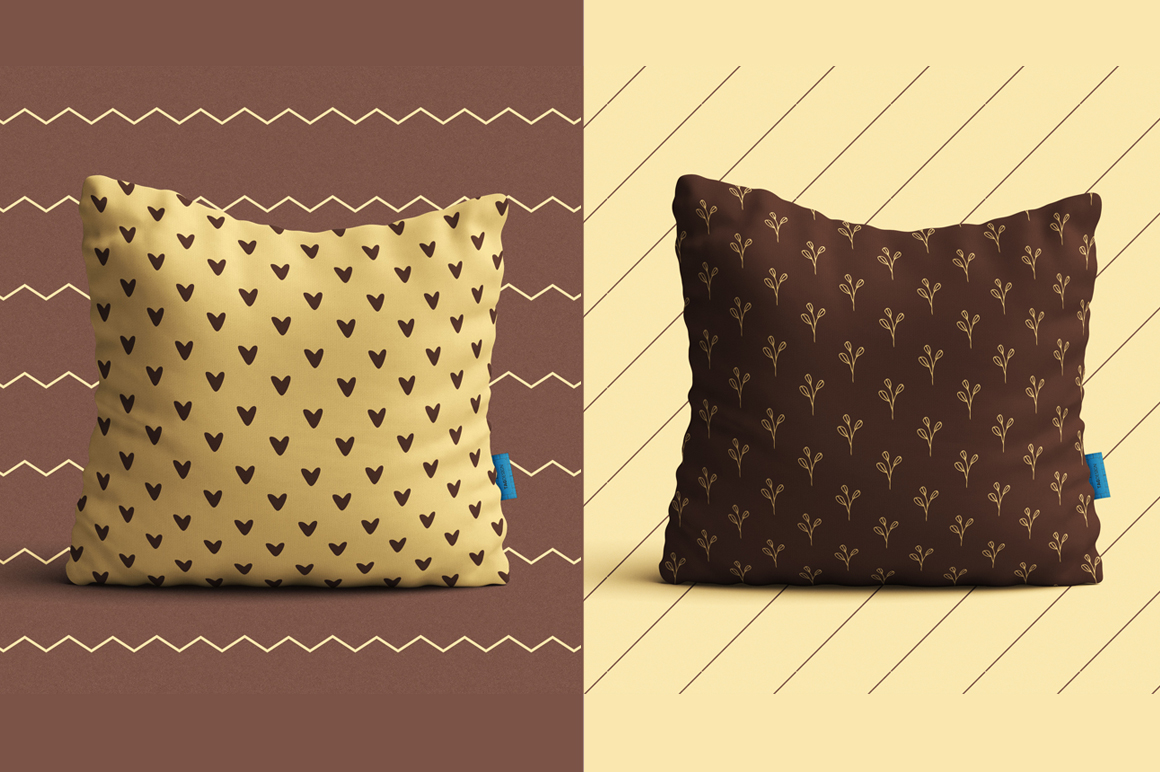 Simple Brown Seamless Pattern example image 3