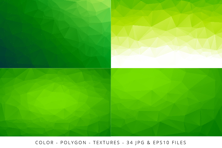 Colorful Low Poly Geometric Digital Papers Eps10 and JPG example image 9