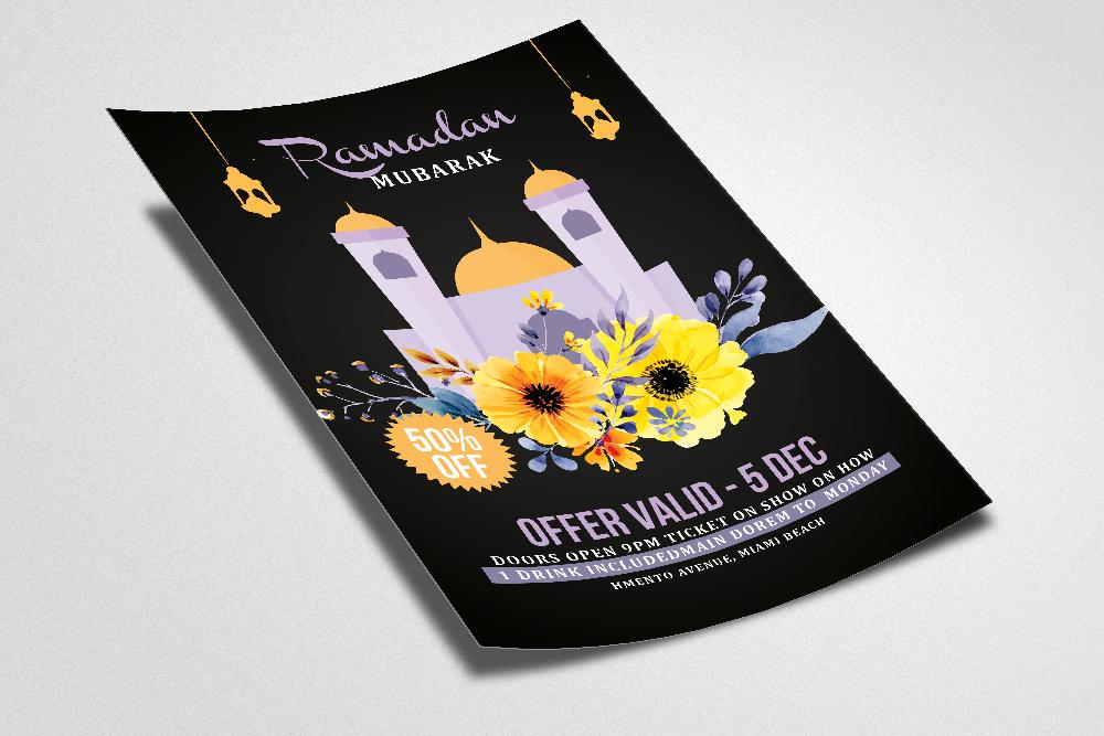 Ramadan Kareem Flyer Template example image 2