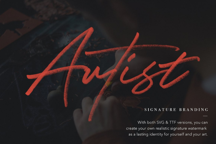 JV Signature SVG - Opentype SVG FONT example image 6
