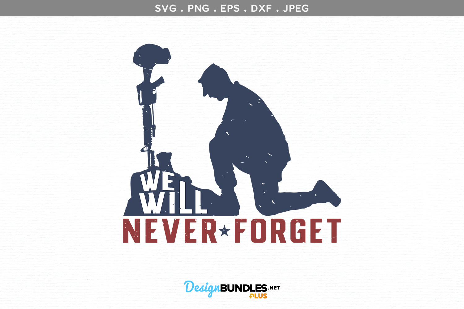 We Will Never Forget - svg, printable example image 2