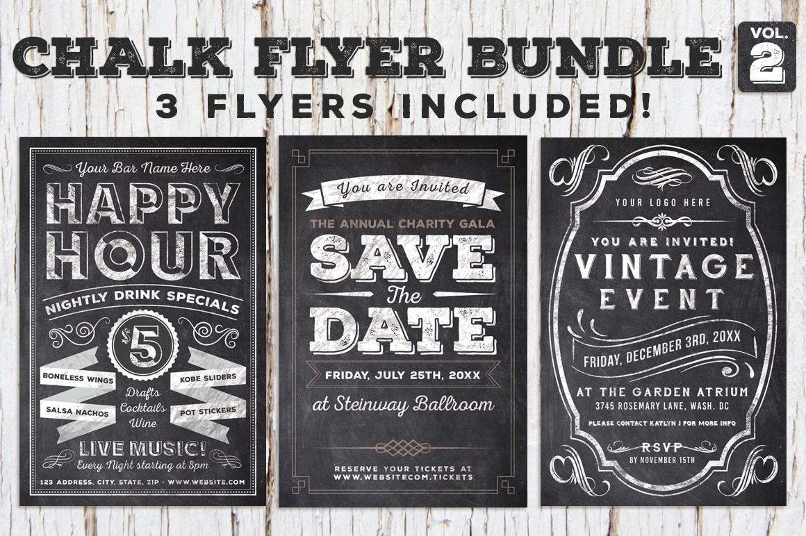 Chalk Flyer Bundle Vol. 2 60 off example image 1