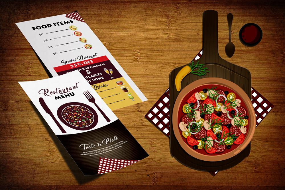 Restaurant Food Menu Template example image 1