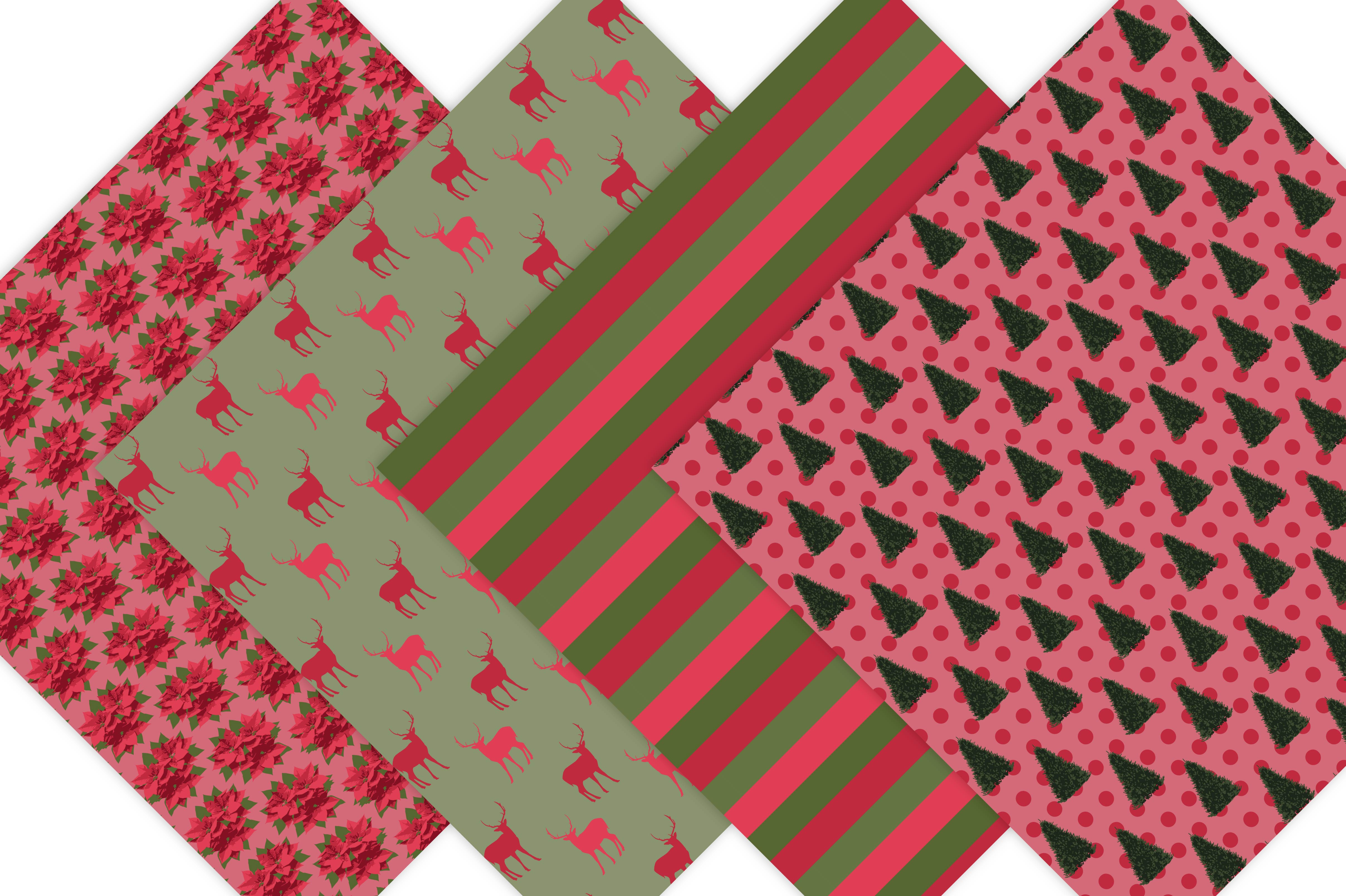 Classic Christmas Digital Paper example image 3