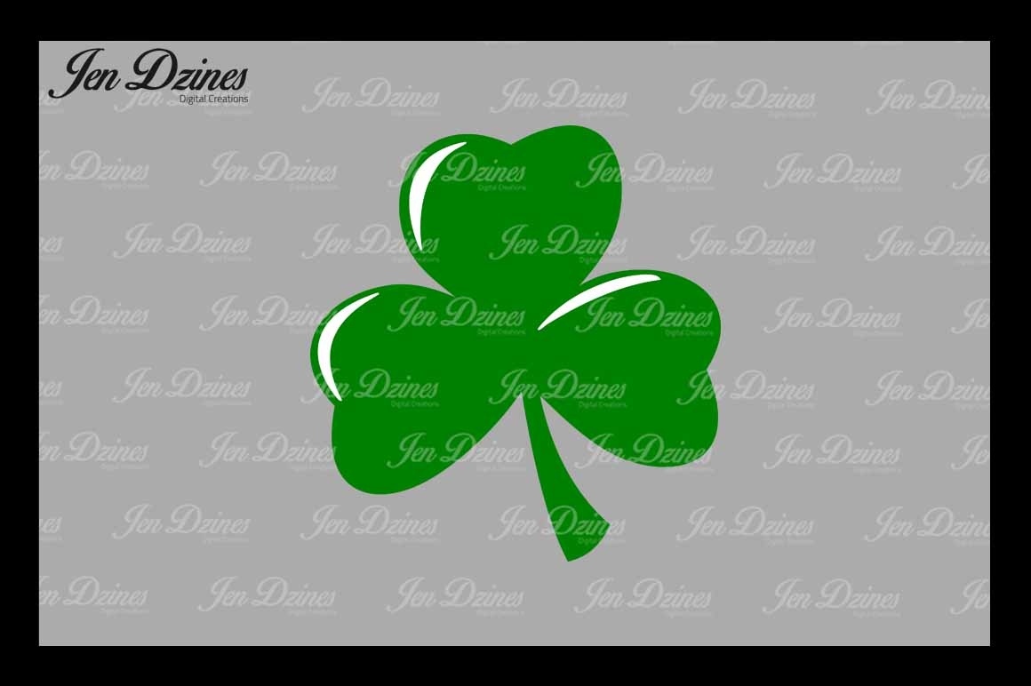 Lucky Clovers SVG DXF EPS PNG example image 2