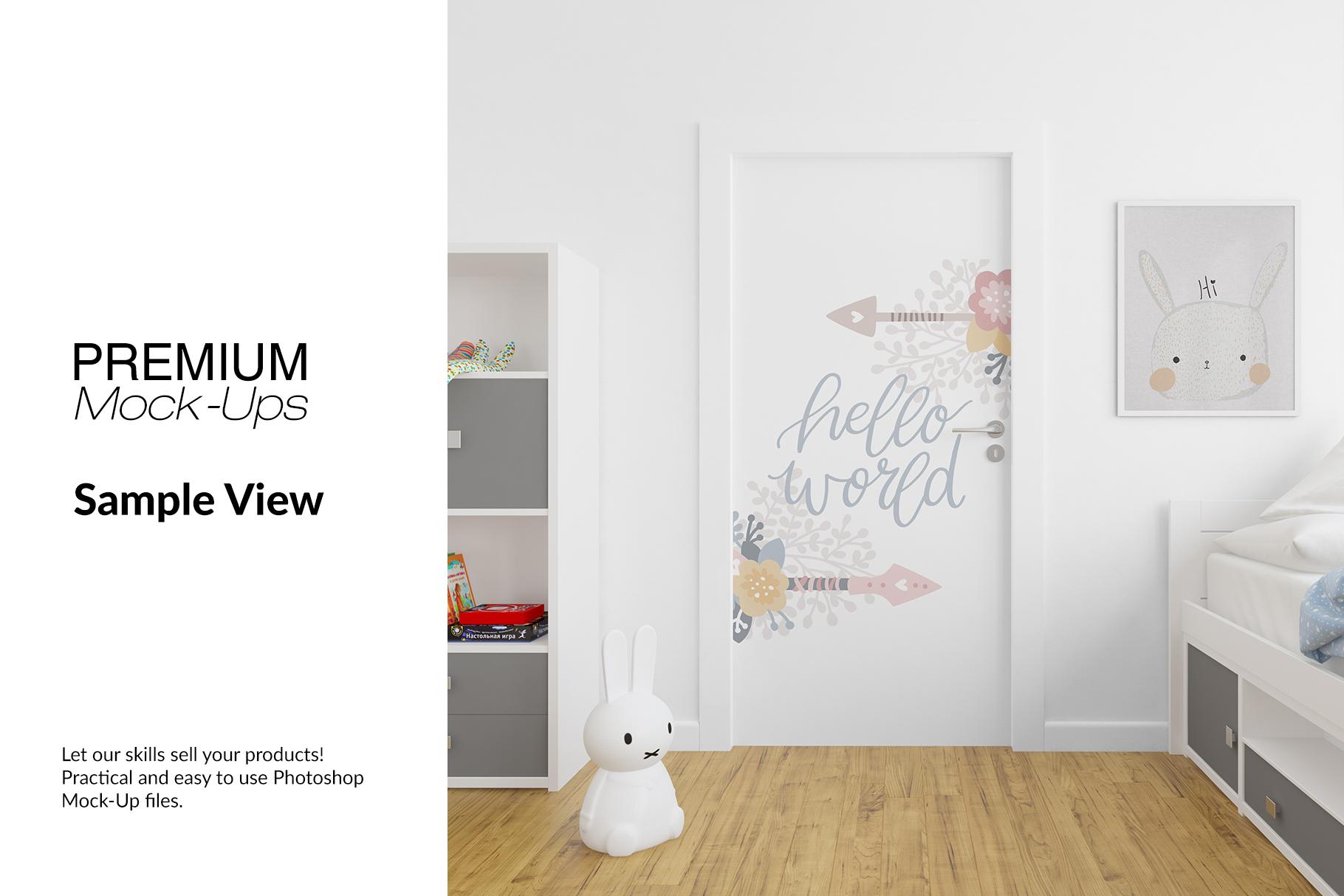 Door Murals in Nursery Set example image 8