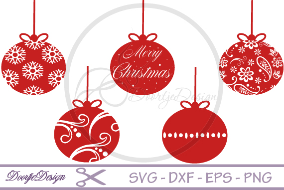 Christmas ornaments SVG, Merry Christmas example image 1