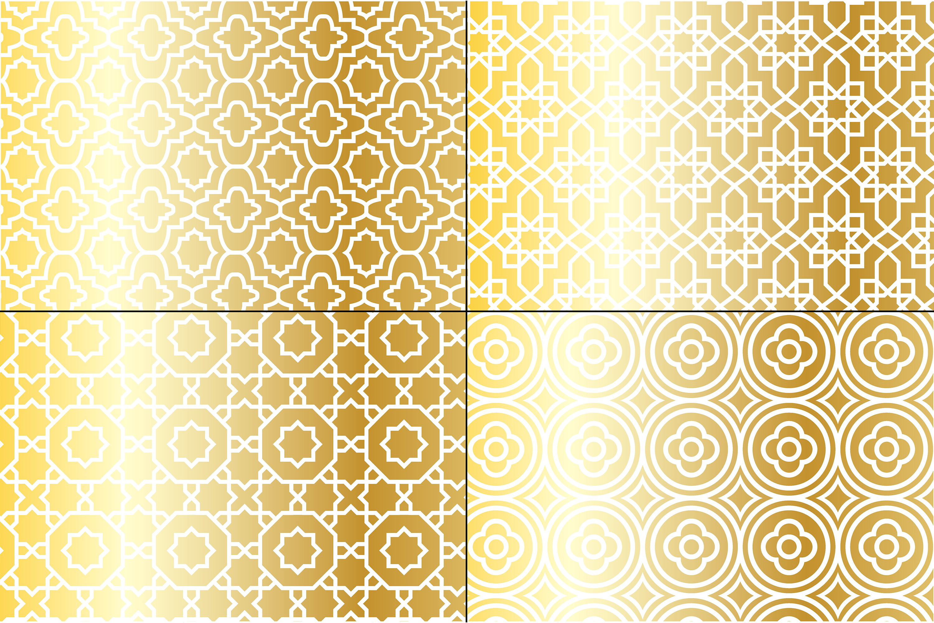 Metallic Gold Moroccan Patterns example image 4