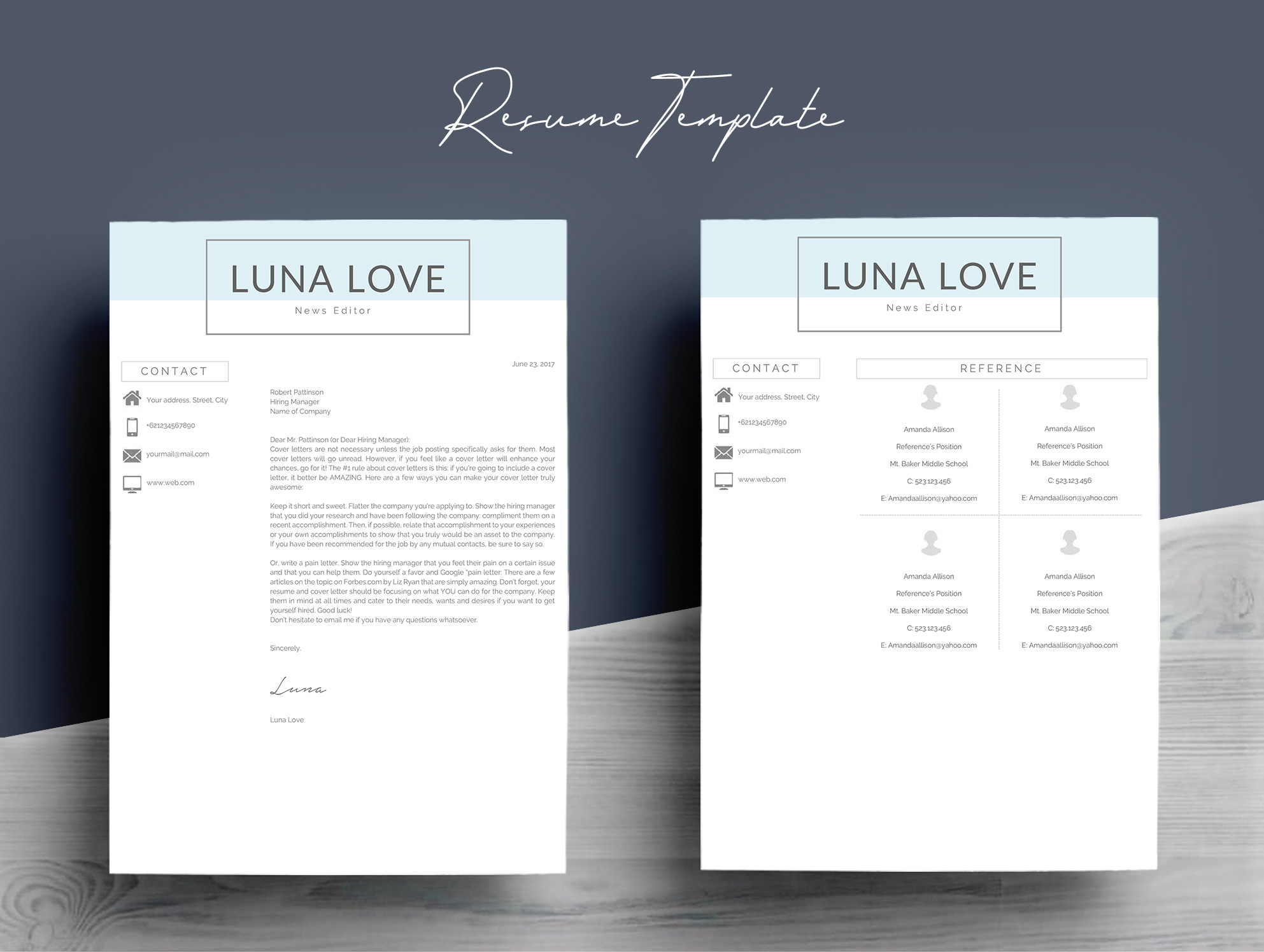 Professional 4 Pages Resume Template example image 7