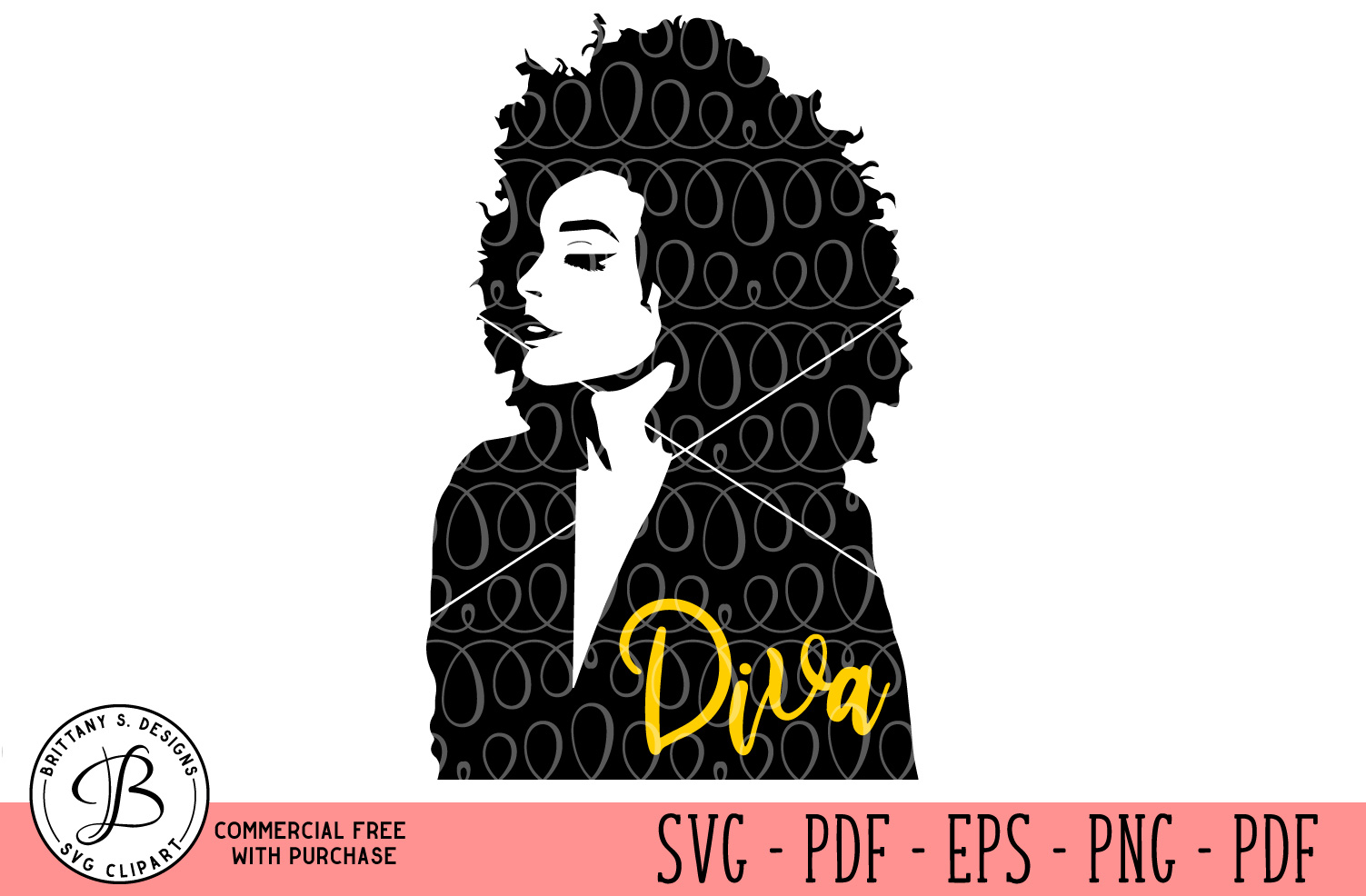 Afro Hairstyle Woman SVG example image 1