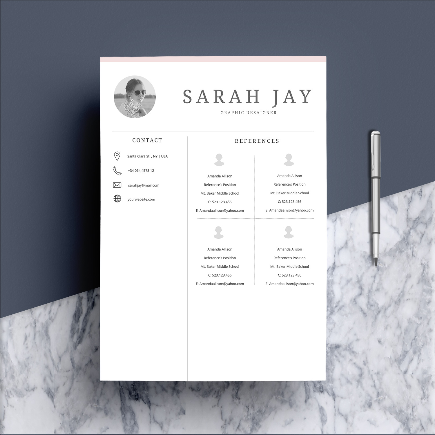 Professional Resume Template Desaign example image 6