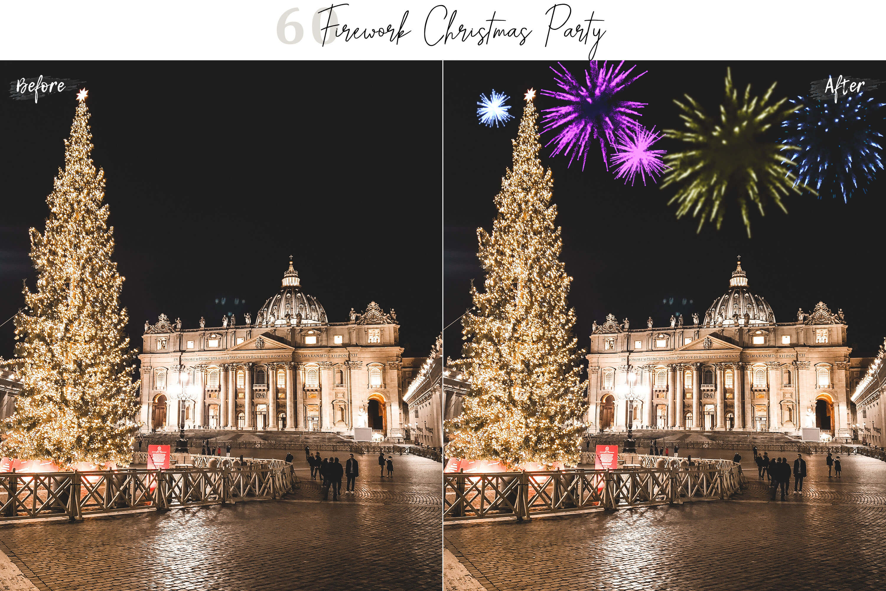 60 Firework Christmas Party Overlays example image 10