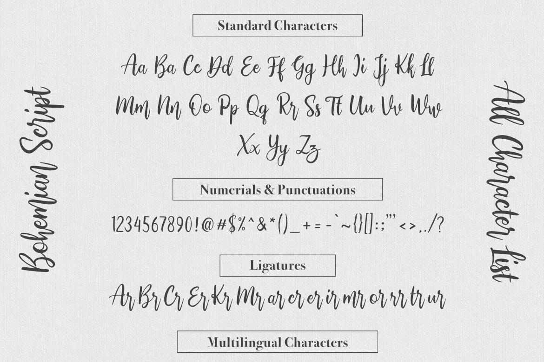 Bohemian Script example image 7
