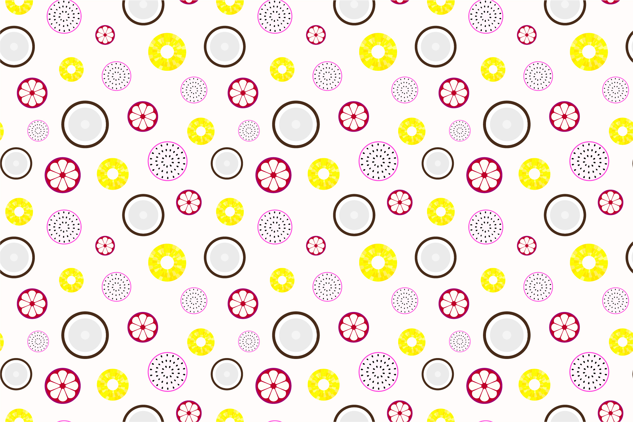 Fruit seamless patterns. Swatches. example image 6