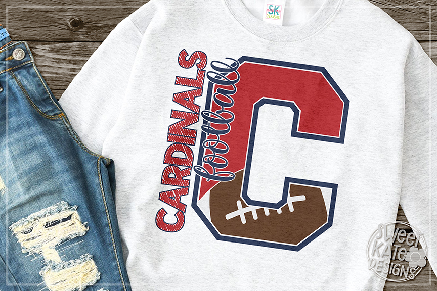 C Cardinals Football SVG DXF EPS PNG JPG example image 5
