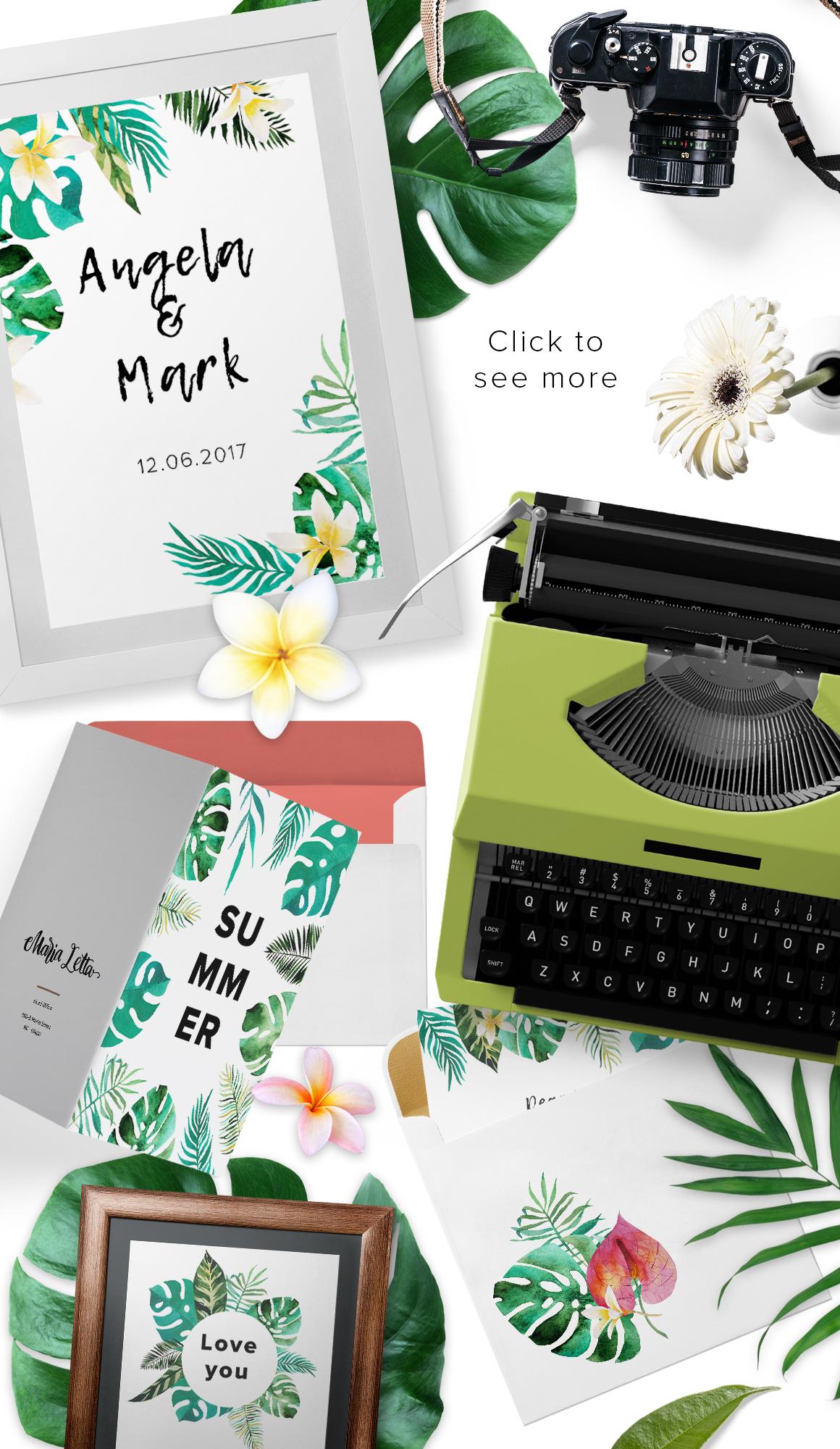 Tropic boom! watercolor designer kit example image 4