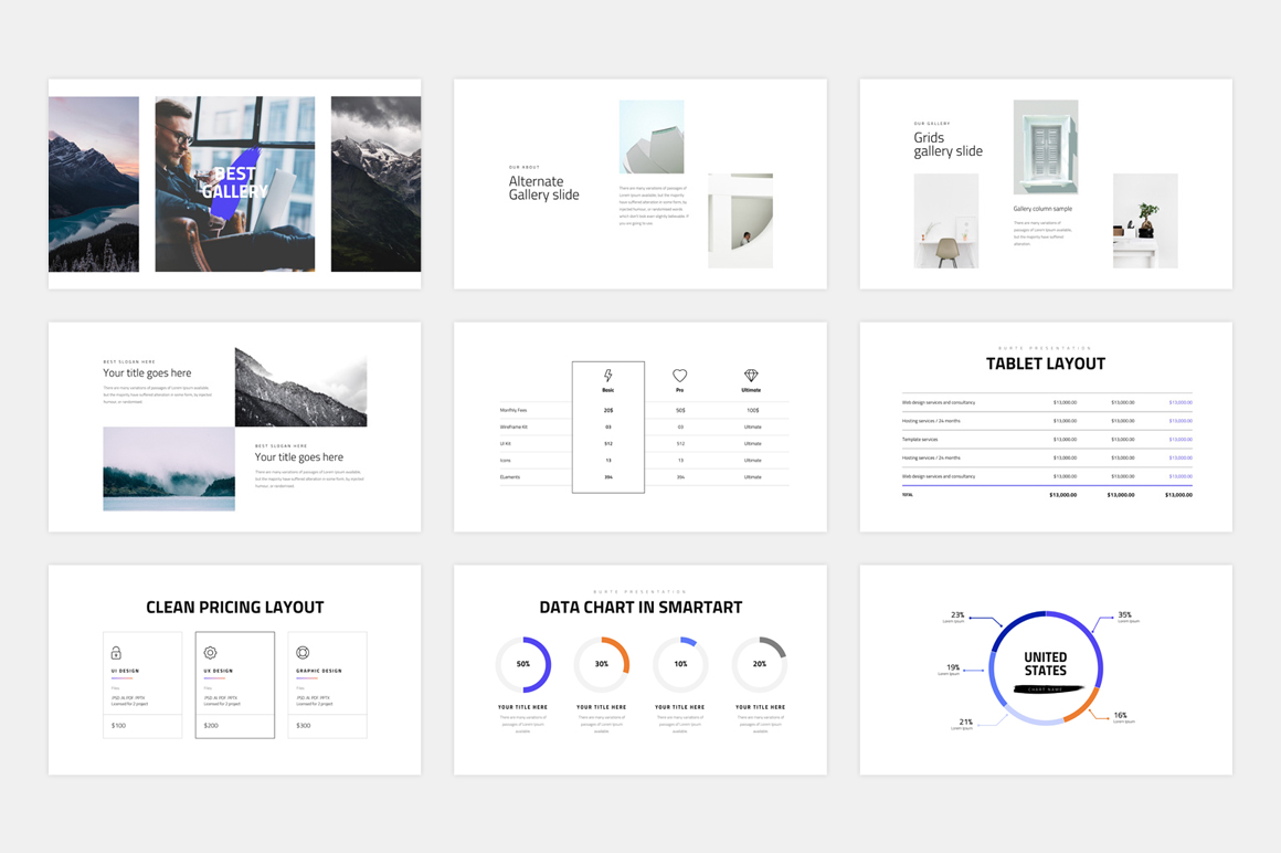 BURTE-Powerpoint Template example image 11