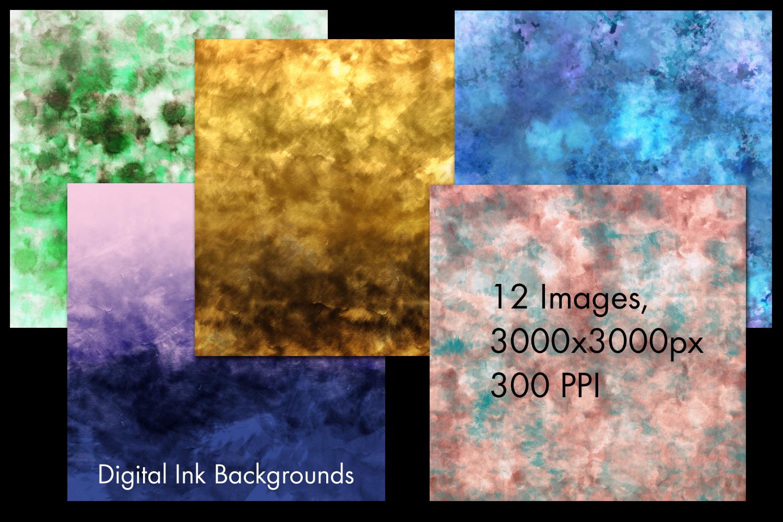 Digital Ink Backgrounds - 12 Image Set example image 2