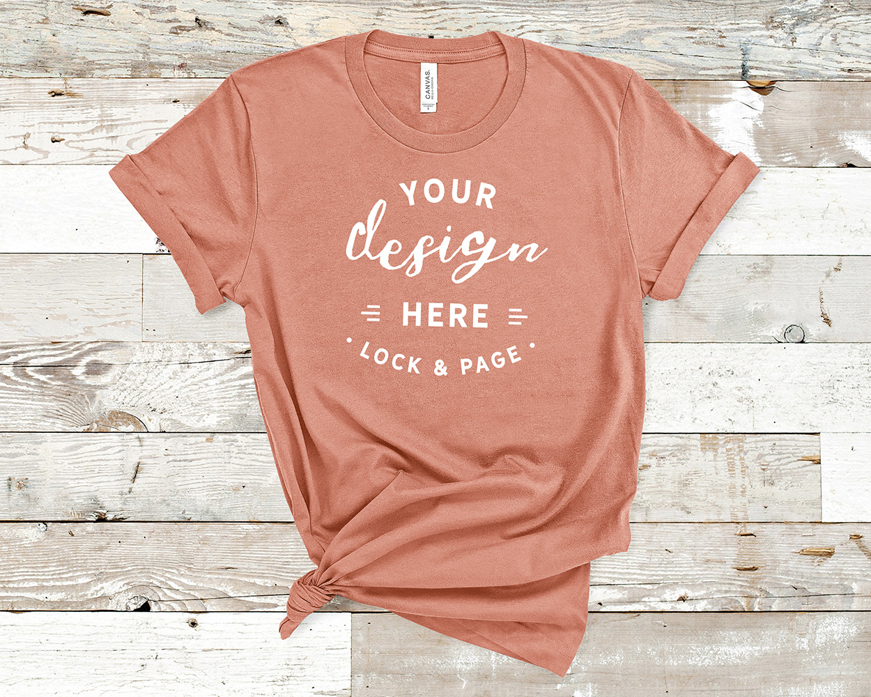 Bella Canvas 3001 Mockup T-Shirt Bundle All Colors On Wood example image 20