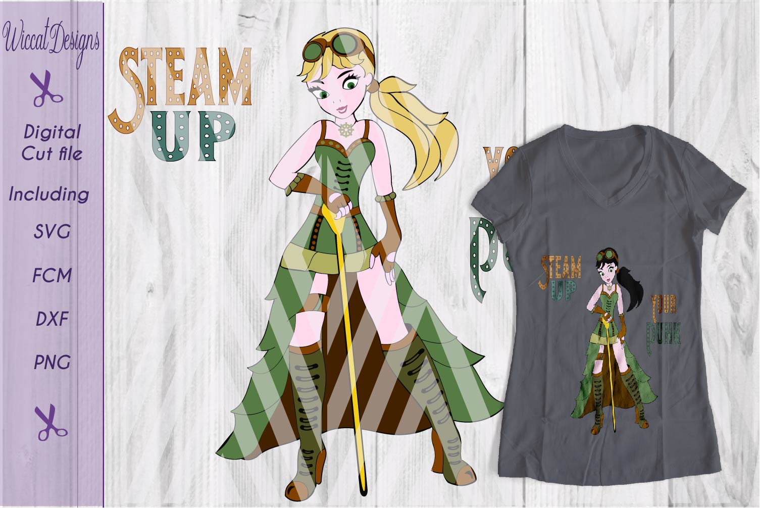 Steampunk svg, girl svg, Characters svg, fantasy svg,  example image 3