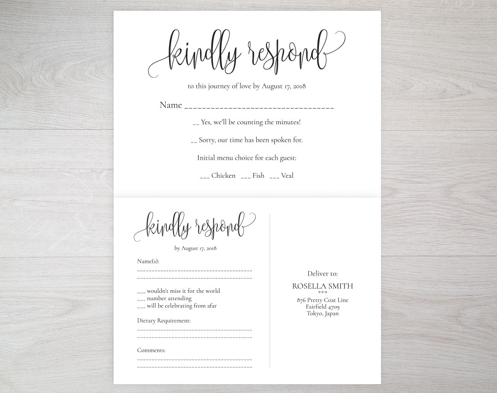 RSVP cards, TOS_8 example image 4